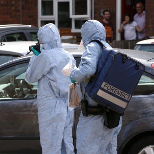 In use by Crime Scene Investigators