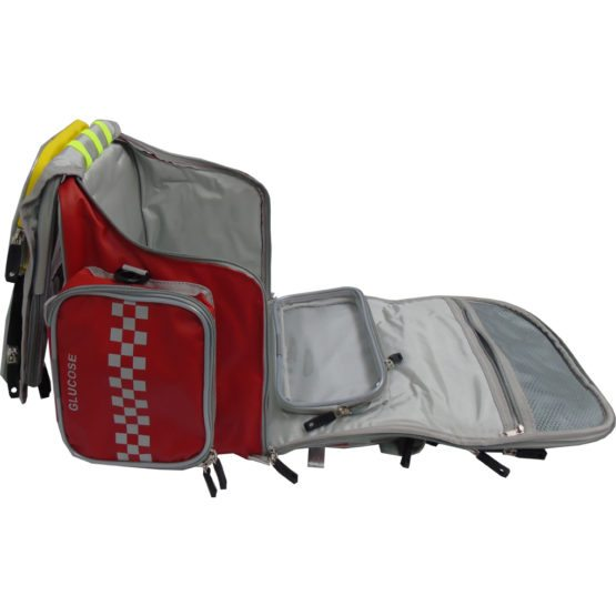 micrAgard™ wipe clean Paramedic Bag with airways pouch & cannula roll