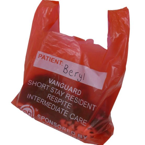 Plastic red bag