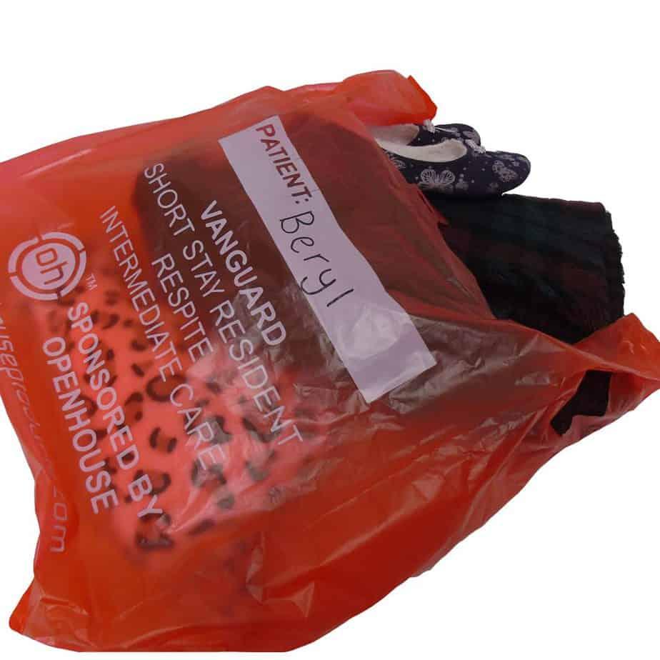 Plastic red bag
