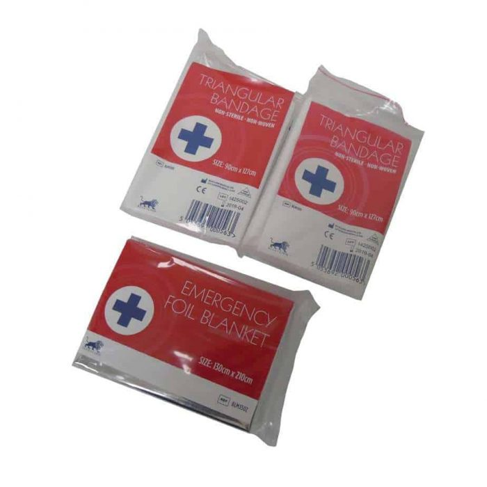 Small Refill Bandage and Foil Blanket