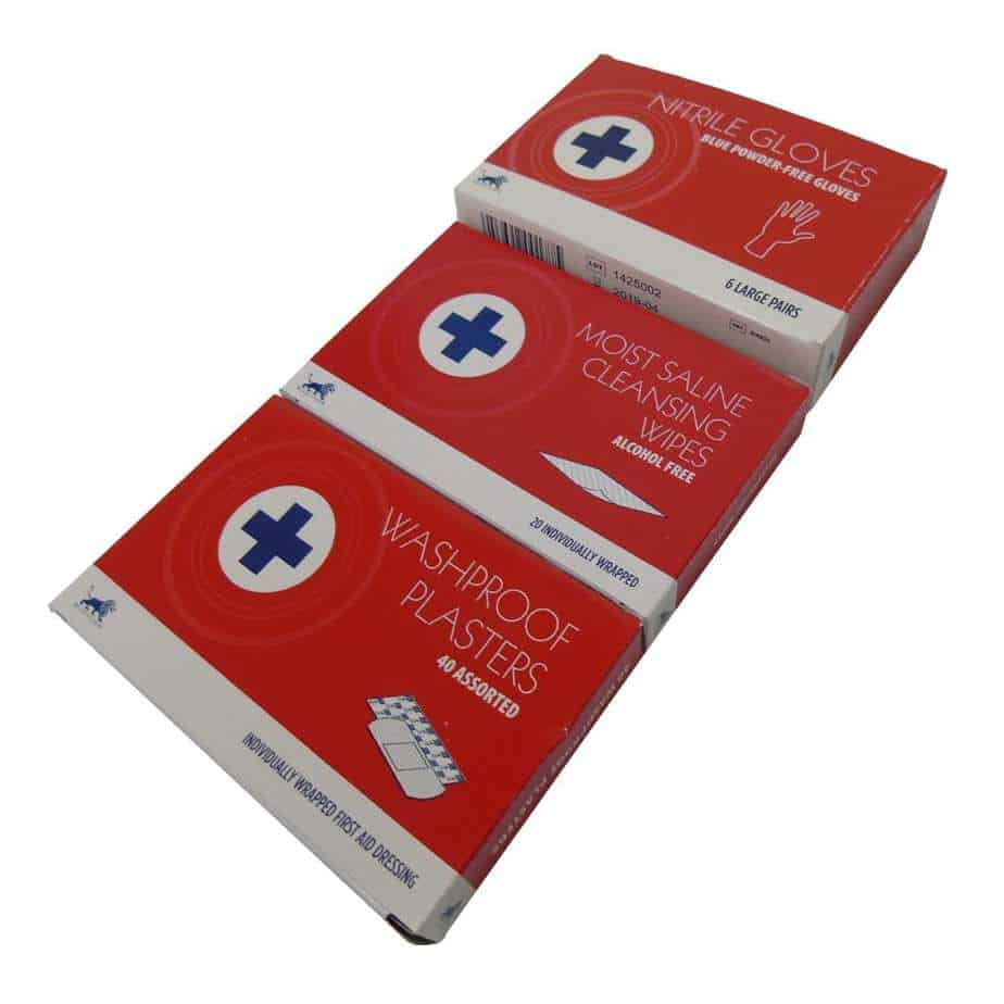 Small Refill Plasters Cleansing Wipes and Gloves (2)