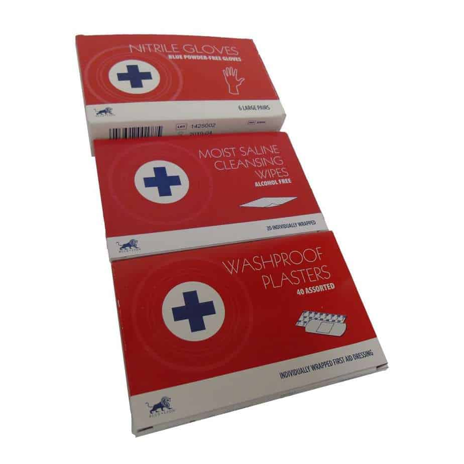 Small Refill Plasters Cleansing Wipes and Gloves