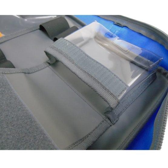 Blue-SCRAM-Bag-Clear-PVC-Pouch-Open