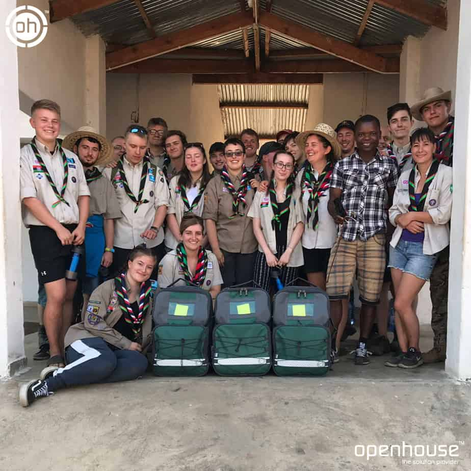 Scouts Bags in use