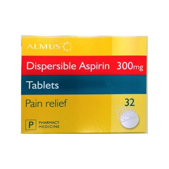 Aspirin-300mg-Dispersible-Tablet