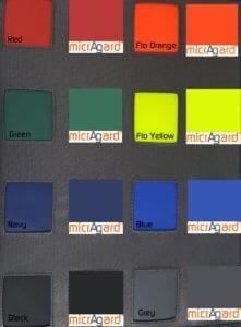 MicrAgard colour swatches