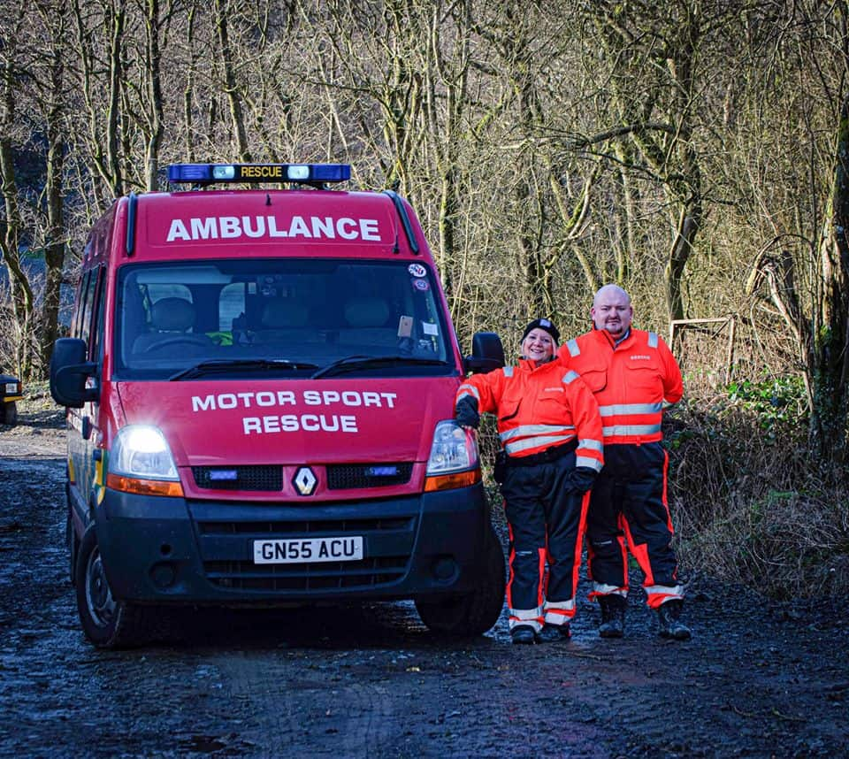 The Catseye Rescue team stood by their ambulance
